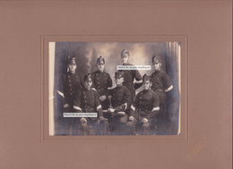 ARMÉE SUISSE BATAILLON 51, C.1910. ALFRED HUSSER, FRIBOURG, BULLE. Landwehr, Militaria, Helvetica. Schweiz. Photo. - Documents