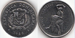 Dominican Republic 5 Centavos 1989 Km#69 - Used - Dominicana