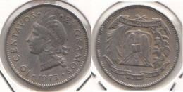 Dominican Republic 10 Centavos 1973 Km#19a - Used - Dominicana