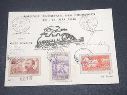 CÔTE D'IVOIRE - Carte Postale Locale De La Journée Des Cheminots De Abidjan En 1945 - L 17010 - Côte-d'Ivoire (1892-1944)