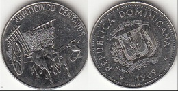 Dominican Republic 25 Centavos 1989 Km#71.2 - Used - Dominicana