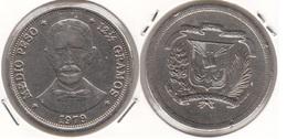 Dominican Republic ½ Peso 1979 Km#52 - Used - Dominicana