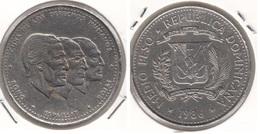 Dominican Republic ½ Peso 1986 Km#62 - Used - Dominicana