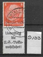 1936 USED Germany, Hindenburg, S133 - Zusammendrucke