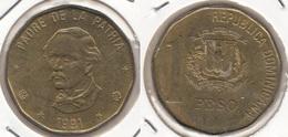 Dominican Republic 1 Peso 1991 Km#80.1 - Used - Dominicana