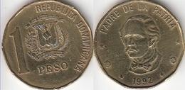 Dominican Republic 1 Peso 1992 Km#80.1 - Used - Dominicana