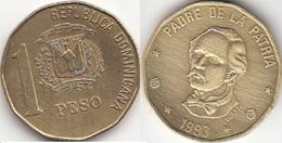 Dominican Republic 1 Peso 1993 Km#80.2 - Used - Dominicana