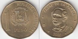 Dominican Republic 1 Peso 2000 Km#80.2 - Used. - Dominicana