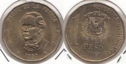 Dominican Republic 1 Peso 1997 Km#80.3 - Used - Dominicana