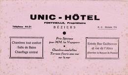 BEZIERS / UNIC HOTEL / RARE - Buvards, Protège-cahiers Illustrés