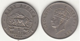 East Africa 1 Shilling 1950 Km#31 - Used - Africa Orientale E Protettorato D'Uganda