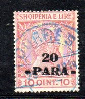 490 12 - ALBANIA 1914 , Michel N. 43 Usato  Skandenberg - Albania