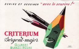 CRITERIUM ET SERGENT MAJOR - Buvards, Protège-cahiers Illustrés