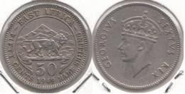 East Africa 50 Cents 1949 Km#30 - Used - Africa Orientale E Protettorato D'Uganda