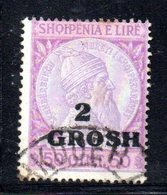 490 14 - ALBANIA 1914 , Michel N. 45 Usato  Skandenberg - Albania