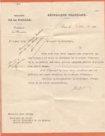 Ministère De La Guerre ( Nomination à La Croix De Chevalier De La Légion D'Honneur De M. Le Médecin Capitaine Ginestet ) - Diploma & School Reports