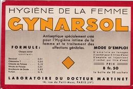 GYNARSOL / HYGIENE DE LA FEMME / RARE - Produits Pharmaceutiques