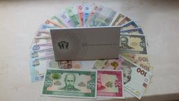 Ukraine - Set 28 Banknotes 1992 - 2015 UNC Ukr-OP - Oekraïne
