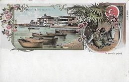 CARTE POSTALE ORIGINALE ANCIENNE : ALEXANDRIE LE PALAIS RAS ET TIN LE SOMMEILLE PROFOND  EGYPTE - Alexandria