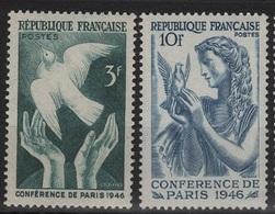 FR 1080 - FRANCE N° 761/62 Neufs** Conférence De La Paix à Paris - France