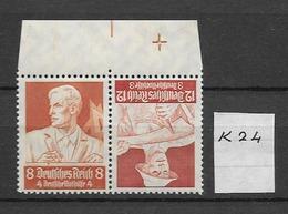 1934 MNH Germany, Berufsstände,  K24 - Se-Tenant