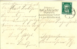 GERMANY Postcard With Machine Cancel Olympic Equestrian Qualification Tournement Hannover - Summer 1928: Amsterdam