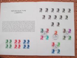 Document Philatélique Officiel 01-82. LIBERTE Y&T N° 2178 à 2190  - 1er Jour Du 04.01.1982. PARIS. - Documents De La Poste