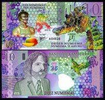 Kamberra, 10 Numismas, POLYMER, 2013, UNC Commemorative, Seahorse - Billets