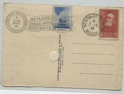 EXPO DU TIMBRE ANTI-TUBERCULEUX / BORDEAUX / 1940 - Marcophilie (Lettres)
