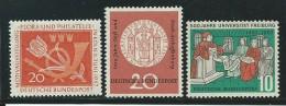 ALLEMAGNE-RFA: **, N° YT 133 + 134 Et 135, TB - Unused Stamps