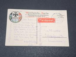 ALLEMAGNE - Wohlfahrts Karte , Marine En 1916 Pour L 'Alsace , étiquette Feldpost - L 17036 - Covers & Documents