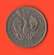 Grecia Greece 5 Drachmai 1930 - Brasil