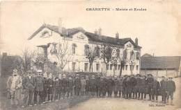 71 - SAONE ET LOIRE / 711774 - Charette - Mairie Et écoles - Beau Cliché Animé - France