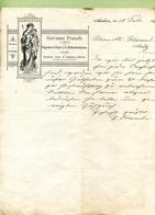"""AACHEN  : """" FABRIK Von FIGUREN Und RELIGIÖSEN BILDERN - GIOVANNI FRANCHI """"  1895 - Allemagne"""