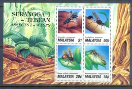 E169- Malaysia 1991. Insects. Insectos. Hinged. - Insects