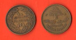 Libano Lebanon 10 Piastres 1969 - Libano