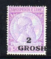 490 19 - ALBANIA 1914 , Michel N. 45 Nuovo  *  Skandenberg - Albania