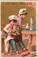 1 Chromo Card Chocolat Bessède  Marseille  Koffiemolen Moulin à Café Coffee Mill Kaffeemühle - Autres