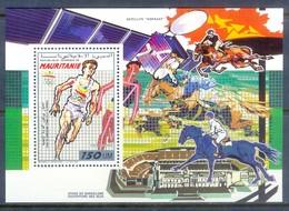 E172- Mauritania Mauritanie Olympics Barcelona 1992 Athletic Horse. - Olympic Games