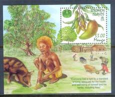 E174- Solomon Islands 2000. Mango. Fruit. Pig. Animals. Man. - Stamps