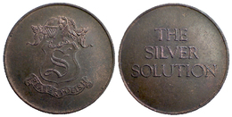 04470 GETTONE JETON TOKEN ADVERTISING PLATE AND POLISH THE SILVER SOLUTION - United Kingdom