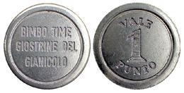 04444 GETTONE JETON TOKEN AMUSEMENT LUNA PARK GIOSTRINE GIANICOLO ROMA - Unclassified