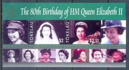 E179- Tokelau Island 2006. The 80th Birthday Of HM Queen Elizabeth II. - Royalties, Royals