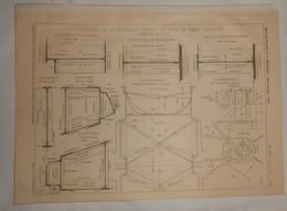 Plan Du Port De Saint Nazaire. Outillage De La Nouvelle Entrée Du Port. Portes De L'écluse. 1905. - Public Works