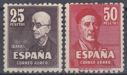 ESPAÑA 1947 Nº 1015/16 NUEVO SIN GOMA EL 25 PTS. LIGERO ADELGAZAMIANTO - 1931-50 Nuevos & Fijasellos