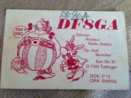 Germany  Amateur Radio Station Card   1977 Asterix And Obelix - Alemania