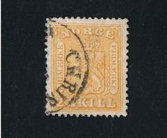 21.01.1865 Freimarke Wappen MI 6 SG 6 YT 6 Gestempelt O - Norwegen