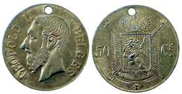 02083 GETTONE JETON TOKEN BELGIUM REPLICA COIN CHARMS LEOPOLD II - Pays-Bas