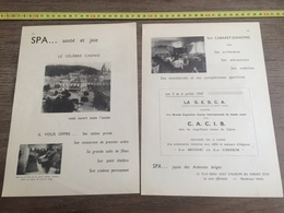 1947 CASINO DE SPA - Oude Documenten