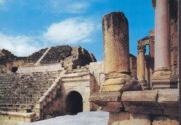 Jordan PPC Part Of Amphitheatre Of Jerash Holy Views 177 (2 Scans) - Jordanien